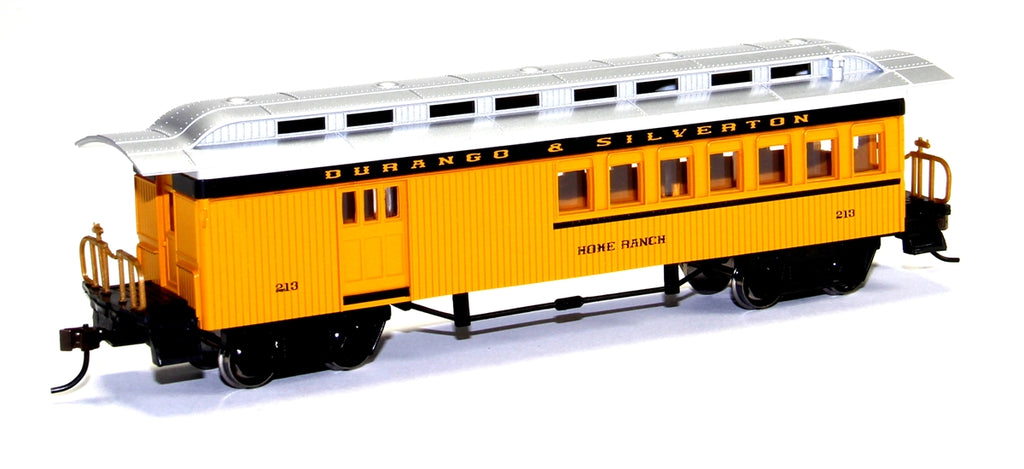 "Bachmann 13504 HO Durango & Silverton ""Home Ranch"" 1860-1880 Wood Combine Car"