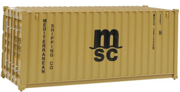 Walthers 949-8057 HO Mediterranean Shipping Co. (MSC) 20' Corrugated Container