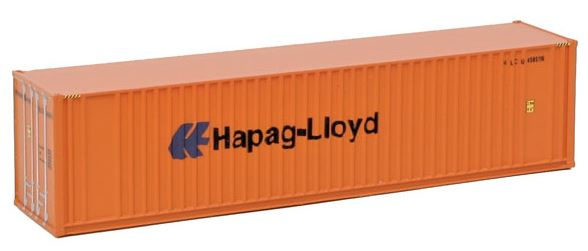 Walthers 949-8804 N Hapag-Lloyd 40' Hi Cube Ribbed Side Container