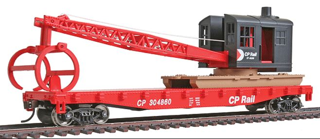 Walthers 931-1781 HO Canadian Pacific - Flatcar with Logging Crane