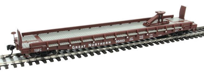 Walthers 910-5115 HO Great Northern 53' GSC Piggyback Service Flatcar #60203