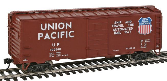 Walthers 910-2361 HO Union Pacific® (Ship & Travel Slogan) 40' PS-1 Boxcar #100001