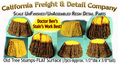 California Freight & Detail Co 5120 HO Large Tree Stumps (7)