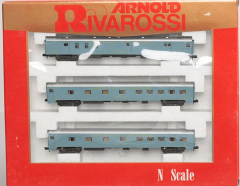 Rivarossi 0581 N American Railroads 3-Car Passenger Set