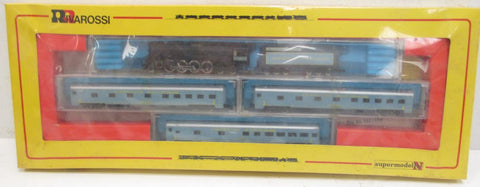 Rivarossi 9012 N American Railroads Steam Locomotive with 3-Car Passenger Set