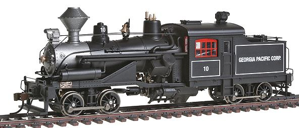 Rivarossi HR2411 HO Georgia Pacific 2-Truck Heisler Steam Locomotive #10 Black