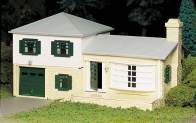 Bachmann 45607 O Plasticville Two-Story Split-Level House Classic Classic Building Kit