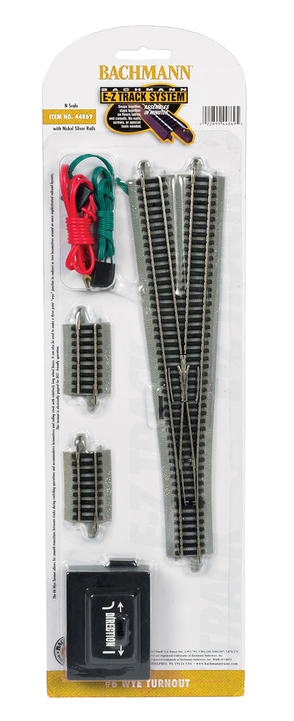 Bachmann 44869 N EZ Track Nickel Silver #6 Wye Switch Turnout