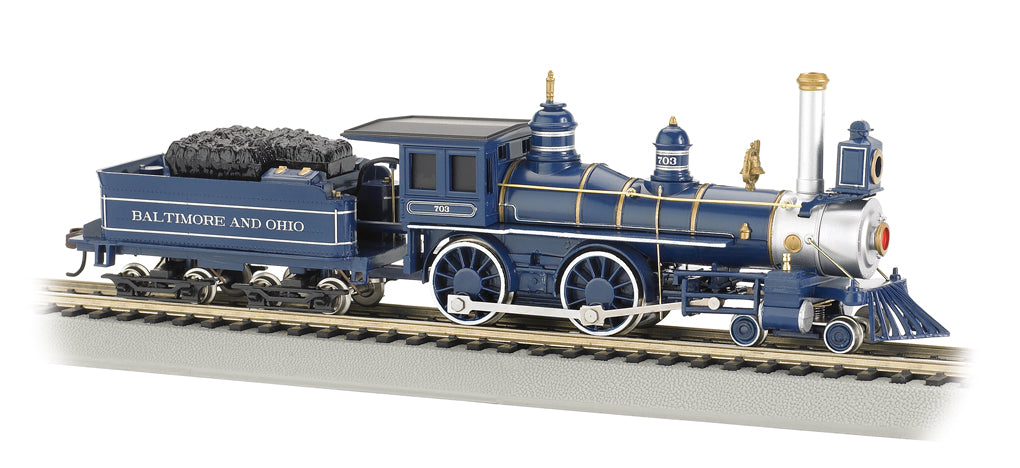 Bachmann 51144 HO Baltimore & Ohio 4-4-0 American Steam Locomotive & Tender