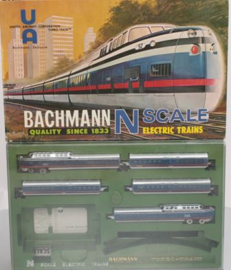 Bachmann 4340 N Penn Central United Aircraft Turbo-Train Set