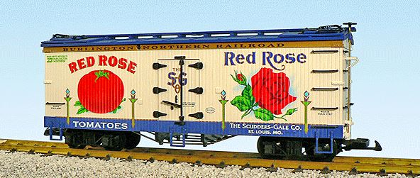 USA Trains 16333 G Burlington Northern Red Rose Tomatoes The