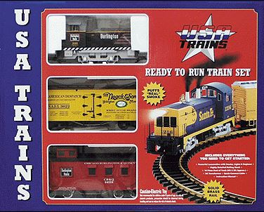 USA Trains 72100 G Burlington Mighty Moe Set