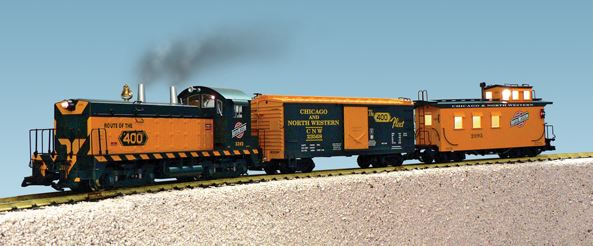 USA Trains 72302 G Chicago & North Western NW-2 Train Set