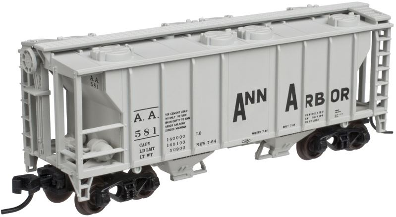 Atlas 50002104 N Ann Arbor PS-2 Covered Hopper #581