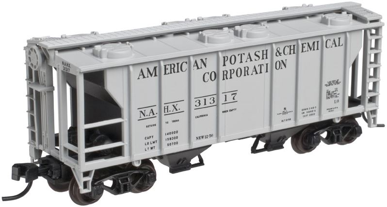 Atlas 50002105 N American Potash and Chemical PS-2 Covered Hopper #31317
