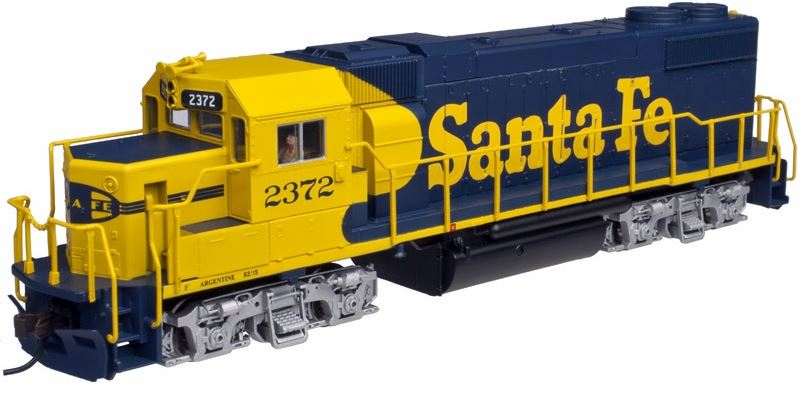 Atlas 10001743 HO Santa Fe EMD GP38-2 Diesel Engine #2372