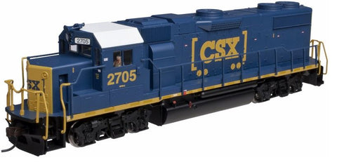 Atlas 10001761 HO CSX EMD GP38-2 Diesel Engine with QSI Sound #2705