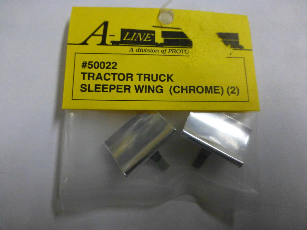 A-Line 50022 HO Tractor Sleeper Wing (Chrome) (2)
