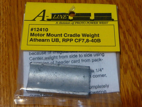 A-Line 12410 HO Motor Mount Cradle Weight For Assorted Units Athearn: UB; RPP
