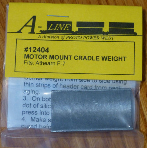 A-Line 12404 HO Motor Mount Cradle Weights - Athearn F7