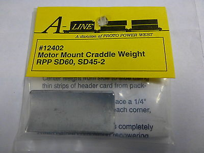 A-Line 12402 HO Motor Mount Cradle Weights - RPP SD60, SD45-2, SD90MAC, F59PH