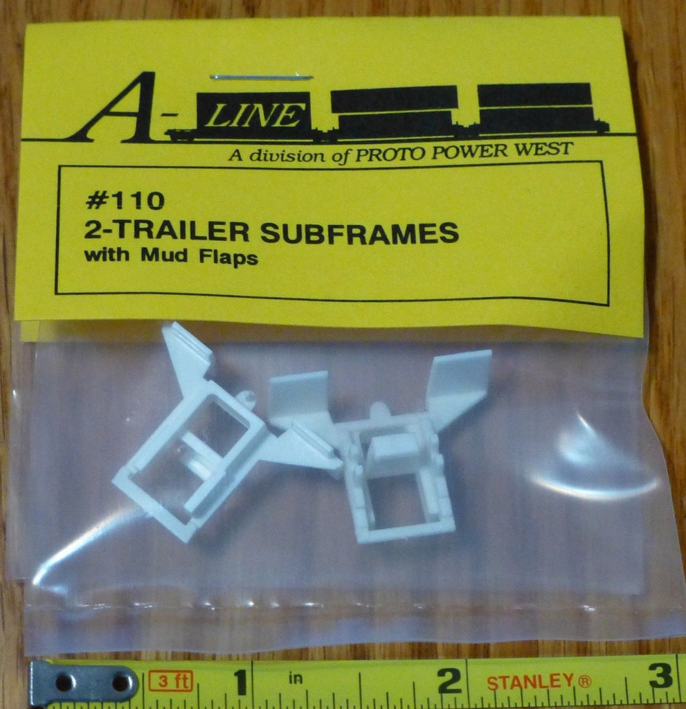 A-Line 110 HO 2-Trailers Subframes with Mud Flaps (Plastic Parts)