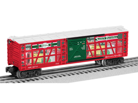 Lionel 6-82711 O North Pole Central Transparent Boxcar w/Christmas Gift #82711