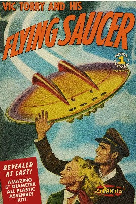 Atlantis Models AMC-1009 Vic Torry and His Flying Saucer Plastic Model Kit