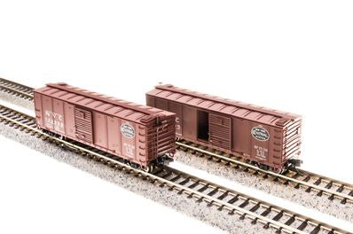 Broadway Limited 3404 N New York Central NYC 40' Steel Boxcar with Dreadnaught Ends 4-Pack