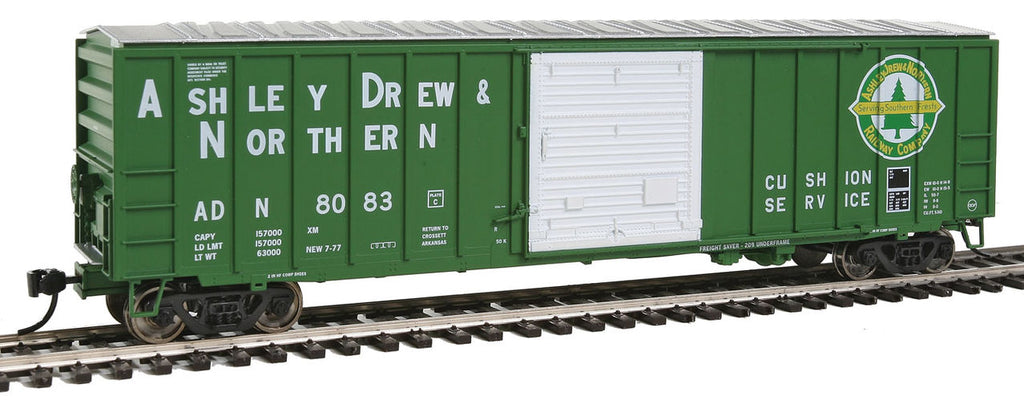 Walthers 910-2117 HO Ashley, Drew & Northern 50' ACF Exterior-Post Boxcar #8083