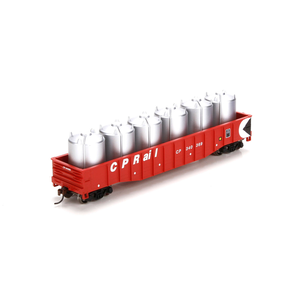 Athearn 29337 HO Canadian Pacific 50' Gondola with Canisters Load #340369