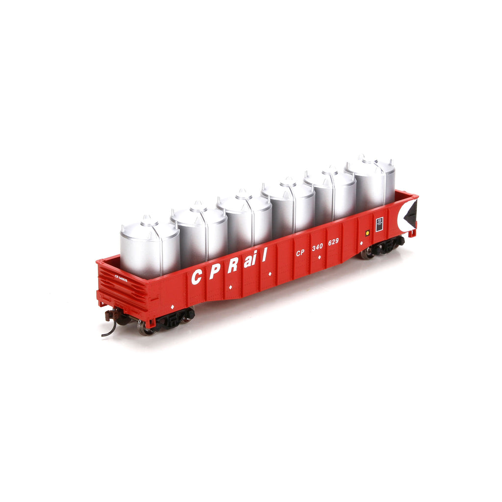 Athearn 29338 HO Canadian Pacific 50' Gondola with Canisters Load #340629