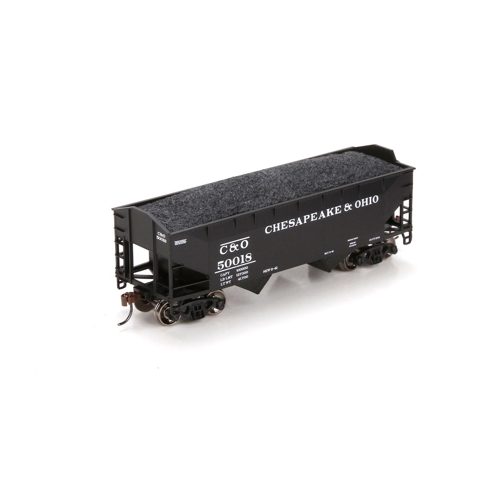 Athearn 70209 HO Chesapeake and Ohio 34' Offset Hopper #50018