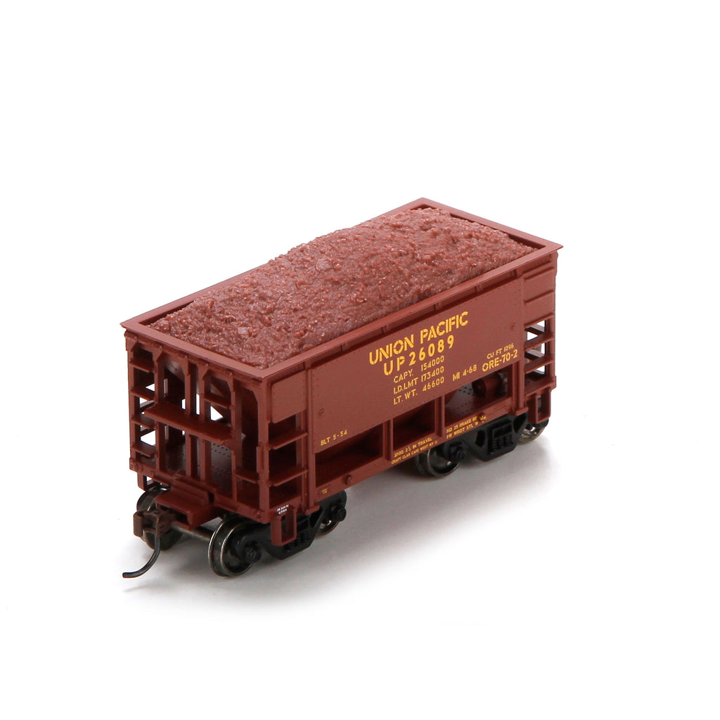 Athearn 87083 HO Union Pacific 24' Offset Ore Car with Load  #26089