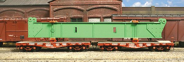 American Model Builders 206 HO Structural Flat Car Load with Blocking Laser-Cut Wood