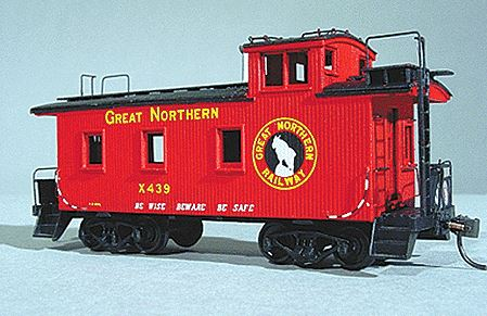 American Model Builders 861 HO Great Northern 25' Car Wood Caboose Kit Laser-Cut Wood