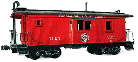 American Model Builders 867 HO Minneapolis & St. Louis Bay Window Car Wood Caboose Kit