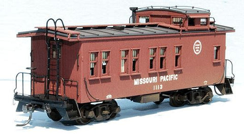 American Model Builders 883 HO Missouri Pacific Drover's Car 1100-1119 Series Wood Caboose Kit