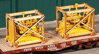 American Model Builders 213 HO Generator Crates Kit Laser-cut Wood pkg(2)