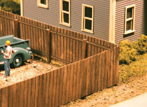 American Model Builders 334 HO Wood Privacy Fence Laser-Cut Wood Kit