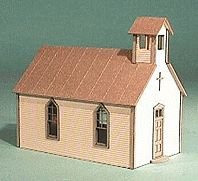 American Model Builders 491 O Crossroads Church Building Kit