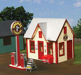 American Model Builders 492 O All-American Gas Station Kit LASERkit®