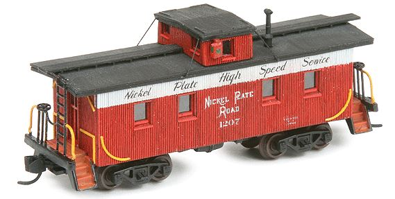 American Model Builders 551 N Nickel Plate Road 35' Wood Cupola Caboose Kit LASERkit®