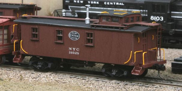 American Model Builders 879 HO New York Central (19000-Series) Wood Caboose Kit Laser-Cut Wood