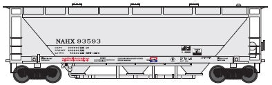 Trainworx Inc 23062-11 N NAHX North American Car PD3000 Covered Hopper #94133