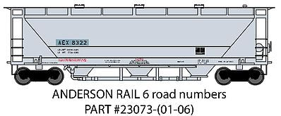 Trainworx Inc 23073-06 N Andersons AEX North American Car Covered Hopper #9527