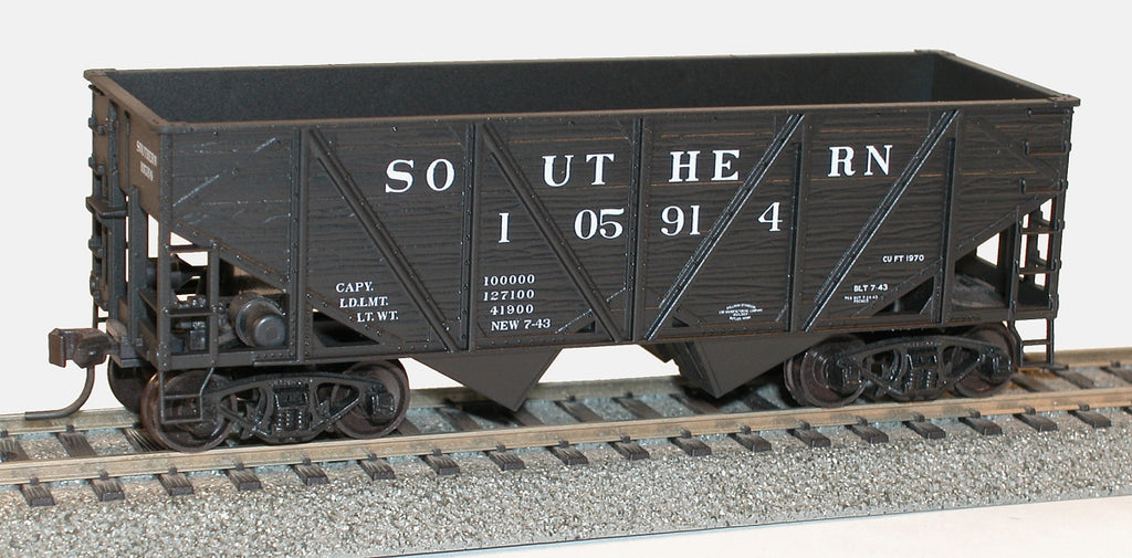 Accurail 27111 HO Southern Wood-Side Twin Hopper Kit