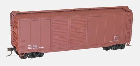 Accurail 3698 HO Data Only (Mineral Red) 40' AAR Double-Door Boxcar