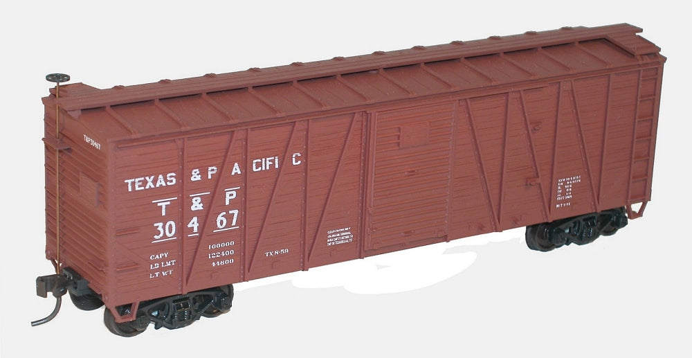 Accurail 4512 HO Texas and Pacific 40' Outside Braced Wood Boxcar Kit
