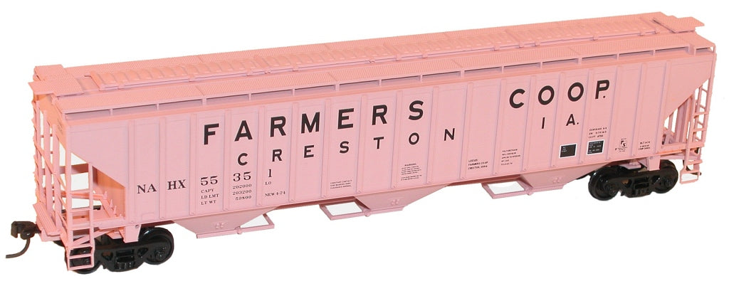 Accurail 6511 HO Farmers Co-Op Pullman Standard-4750 3-Bay Covered Hopper Kit